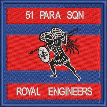 51 PARA SQN EMBROIDERED BADGE